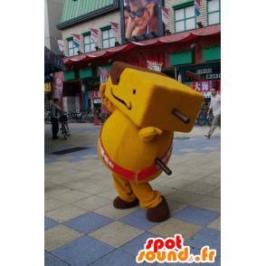Kushitan mascotte, giallo e marrone uomo - MASFR25027 - Yuru-Chara mascotte giapponese