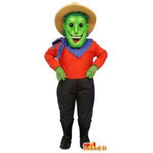Green Man Maskottchen gekleidet wie ein Cowboy - MASFR006711 - Menschliche Maskottchen