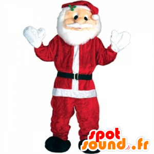 Kerstman Mascot rode en witte reus - MASFR25042 - Kerstmis Mascottes