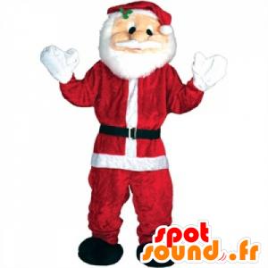Santa Claus Maskot červená a bílá obra - MASFR25042 - Vánoční Maskoti