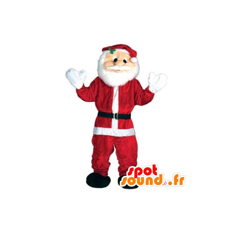 Weihnachtsmann-Maskottchen roten und weißen Riesen - MASFR25042 - Weihnachten-Maskottchen