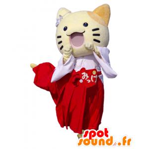 Mascotte de Sanomaru, petit chat jaune de la ville d'Osaka