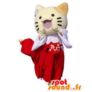 Mascot Sanomaru, pieni keltainen kissa Osaka - MASFR25047 - Mascottes Yuru-Chara Japonaises