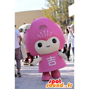 Yoshino-cho maskot, lyserød karakter - Spotsound maskot kostume