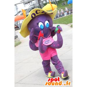 Maskot Ocho, lila bläckfisk från Magic Waters - Spotsound maskot
