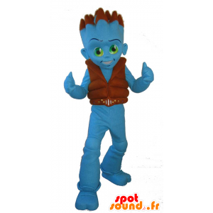 Mascot Uaggi, blauw vreemd, blauw jongen - MASFR25060 - Yuru-Chara Japanse Mascottes