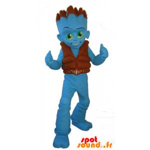 Mascot Uaggi, sininen ulkomaalainen, sininen poika - MASFR25060 - Mascottes Yuru-Chara Japonaises