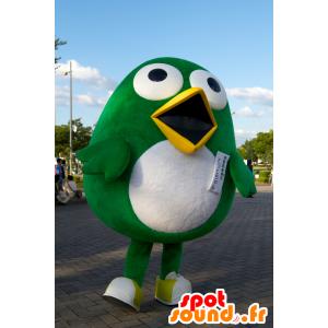 Mascotte de Totto, gros oiseau vert et blanc de Sagantosu