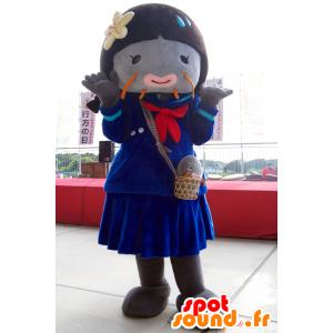 Mascotte de Niko-Chan, de poisson gris, de la ville d'Ibaraki