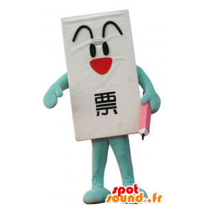 Mascot Ippyo-Kun, giant ballot with a pencil