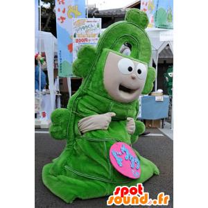 Mascotte Dotaku-kun, gigante campanile verde, Yasu Città - MASFR25074 - Yuru-Chara mascotte giapponese