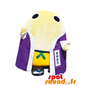 Mayumaro mascot, giant white egg with a bathrobe