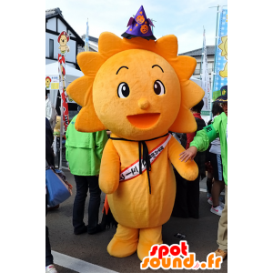 Mi-Man mascotte, fiore giallo, sole, allegro - MASFR25080 - Yuru-Chara mascotte giapponese