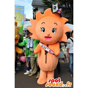 Mascot My-min, fiori d'arancio, il sole, molto carino e colorato - MASFR25081 - Yuru-Chara mascotte giapponese
