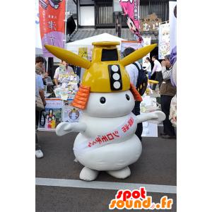 Mascotte Shiromochi-Kun, uomo bianco con un casco giallo - MASFR25086 - Yuru-Chara mascotte giapponese