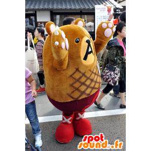 No mascotte Googoo Hamburguma, orsacchiotto marrone - MASFR25089 - Yuru-Chara mascotte giapponese