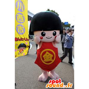 Kinta-kun mascotte, ragazza bruna in abito rosso, Hyogo - MASFR25092 - Yuru-Chara mascotte giapponese