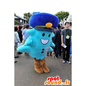 Mory mascotte, uomo blu con un cappuccio - MASFR25093 - Yuru-Chara mascotte giapponese
