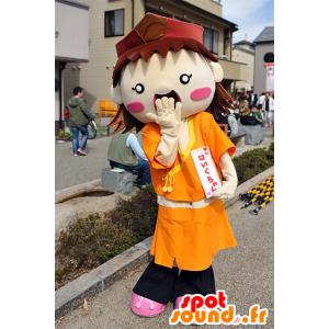 Haiku-chan mascotte, ragazzo, vestito arancia Mie - MASFR25096 - Yuru-Chara mascotte giapponese