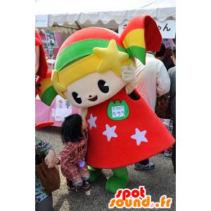 Mascotte Kirara-chan, ragazza di colore, bambola sorridente - MASFR25097 - Yuru-Chara mascotte giapponese