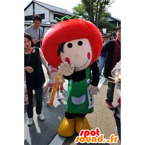 Mascotte Piakky, giardiniere con un pomodoro, Nagoya - MASFR25098 - Yuru-Chara mascotte giapponese