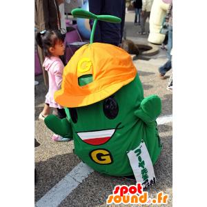 Verde mascotte, con casco arancia - MASFR25100 - Yuru-Chara mascotte giapponese