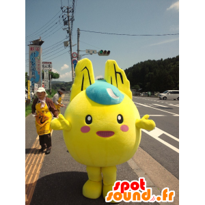 Mascot gul, rund mann, så Pikachu - MASFR25101 - Yuru-Chara japanske Mascots