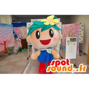 Bow mascotte Fujied, floreale giapponese e il carattere gioviale - MASFR25107 - Yuru-Chara mascotte giapponese
