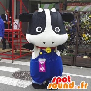 Nero mascotte e mucca bianca, tuta - MASFR25109 - Yuru-Chara mascotte giapponese