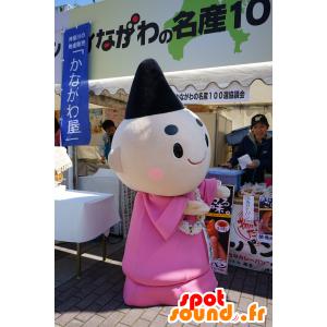 Monk mascotte con una tunica di colore rosa - MASFR25139 - Yuru-Chara mascotte giapponese