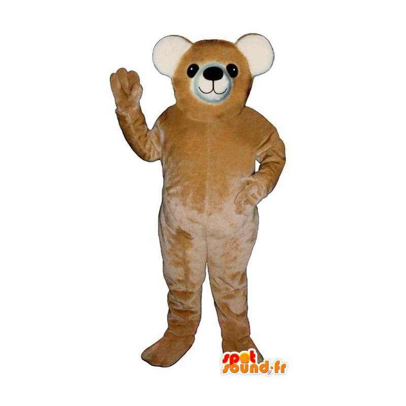 Beige teddy maskotti - kaikenkokoiset - MASFR006740 - Bear Mascot