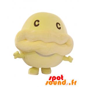 CAFKA-kun mascotte, pesce giallo, gigante e divertente - MASFR25210 - Yuru-Chara mascotte giapponese