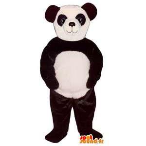 Mascot schwarz und weiß Panda.Panda-Kostüm