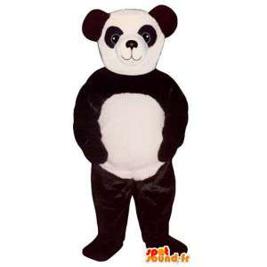 Mascotte in bianco e nero panda. Panda costume