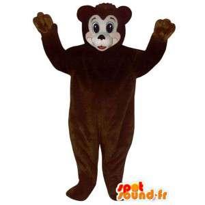 Maskotti tummanruskea karhuja. nalle - MASFR006748 - Bear Mascot