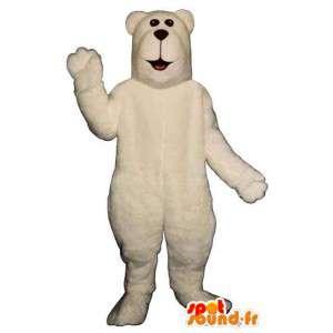 Maskotti kermainen valkoinen karhu - kaikenkokoiset - MASFR006750 - Bear Mascot