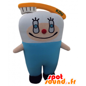 Mascotte Kyusshi, gigante dente bianco con uno spazzolino da denti - MASFR25267 - Yuru-Chara mascotte giapponese