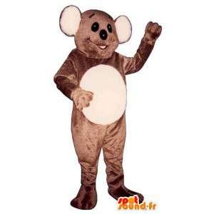Mascotte marrone e bianco koala - MASFR006753 - Mascotte Koala