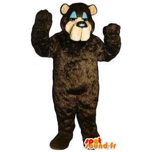 Mascot big dark brown bear, customizable - MASFR006756 - Bear mascot