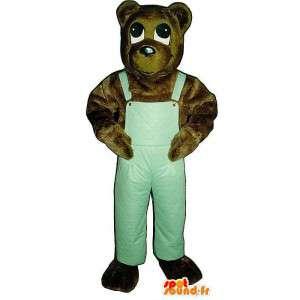 Karhun maskotti vihreä haalari - MASFR006757 - Bear Mascot