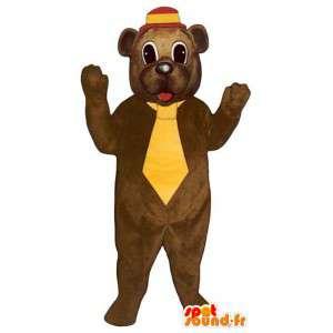 Karhun maskotti keltainen solmio - MASFR006760 - Bear Mascot