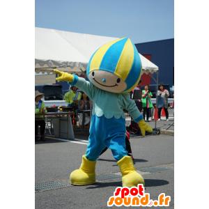 Minamo mascote, menino azul e amarelo, com uma touca de natação - MASFR25329 - Yuru-Chara Mascotes japoneses