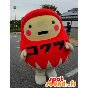 Dharma-chan mascotte, l'uomo rosso e bianco, tutto - MASFR25333 - Yuru-Chara mascotte giapponese