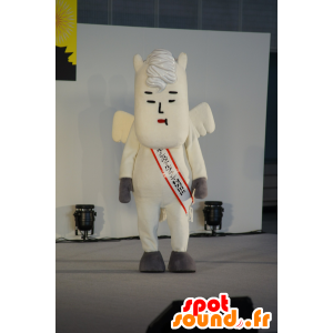 Mascotte Murao III, cavallo bianco alato, originale - MASFR25337 - Yuru-Chara mascotte giapponese