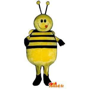 Mascot big yellow and black bee, smiling - MASFR006776 - Mascots bee