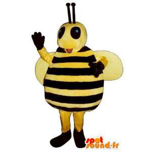 Mascota divertida abeja grande