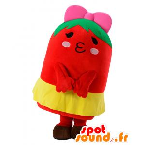 Tomachuu mascotte, pupazzo rosso, verde e giallo - MASFR25419 - Yuru-Chara mascotte giapponese