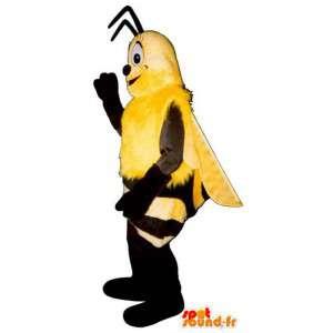 Mascot av svart og gul bie - alle størrelser