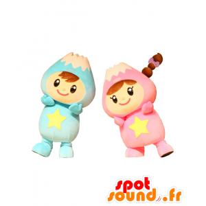 2 mascotte di Fuwappi, vulcani, montagne - MASFR25426 - Yuru-Chara mascotte giapponese