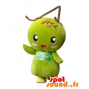 Ohmin mascotte, frutta verde gigante asiatico - MASFR25427 - Yuru-Chara mascotte giapponese